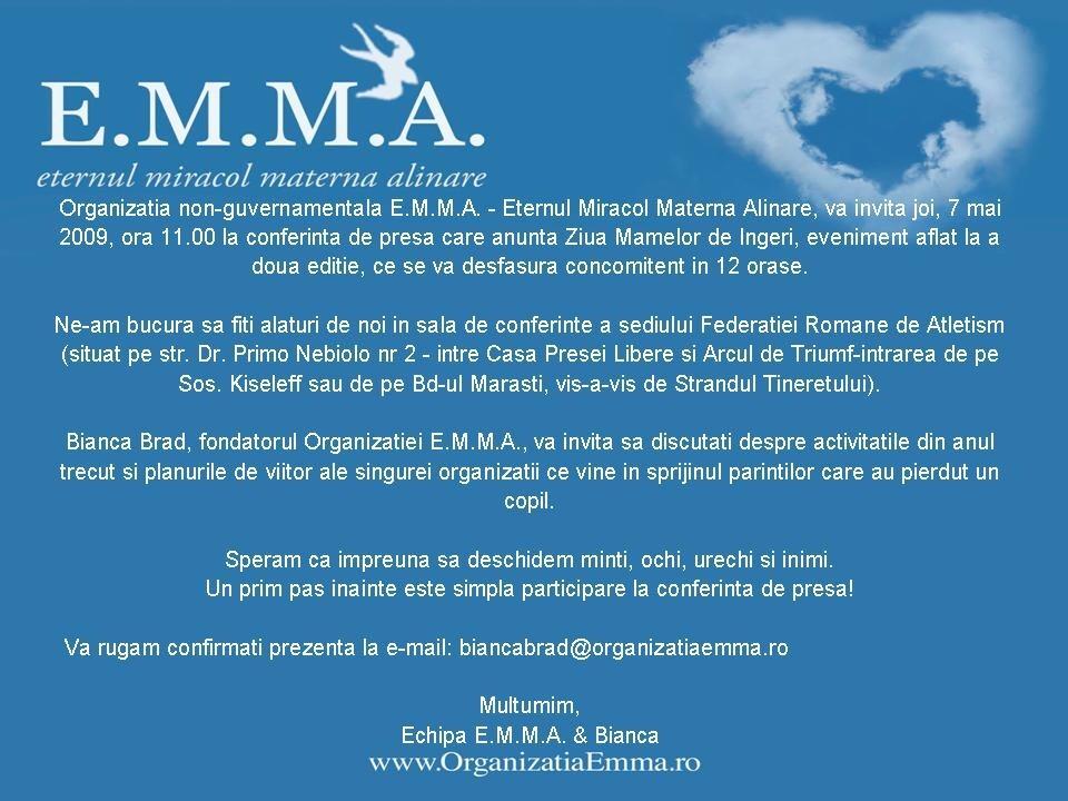 Conferinta de presa EMMA 07 mai 2009
